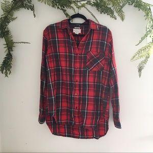 Ralph Lauren Red/Gray Boyfriend Flannel Shirt